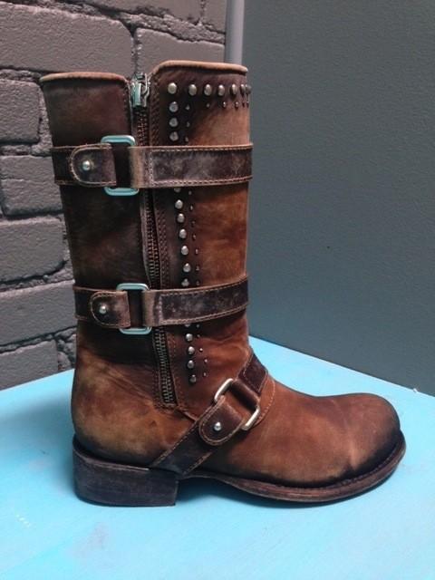 Boot Cognac Multi-Straps & Studs