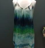 Dress Dye Printed Chiffon Dress