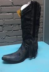 Boot Black/Grey Braiding & Fringe