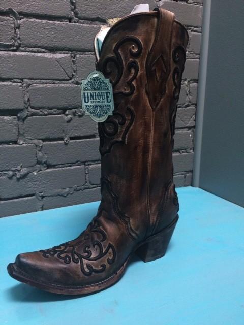 Boot Brown/Bronze Cord Stitch