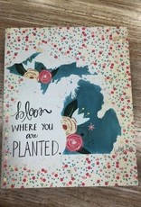 Decor Bloom Where Planted 8x10 Sign