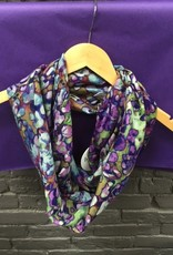 Scarf Purple Animal Print Infinity Scarf