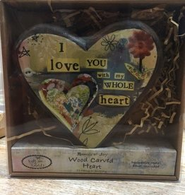 Decor Love Wood Carved Heart