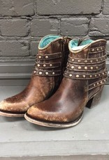 Boot Brown Studded Strap Ankle Boots