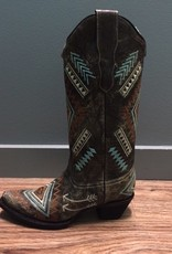Boot Black/Bone MultiColor Diamond Boot