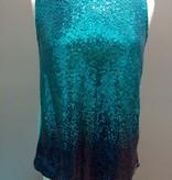 Dress Sequined Aqua Shirt