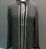 Blouse Printed Collar Shirt
