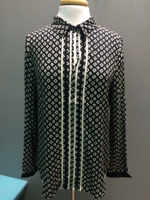 Blouse Printed Collar Shirt