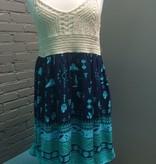 Dress Navy Dress with Crochet Top