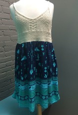 Dress Navy Dress with Crochet Top