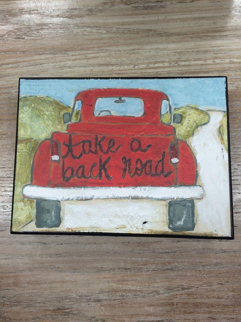 Decor Back Road Sign