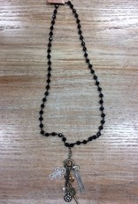 Jewelry Black Key and Cross Necklace