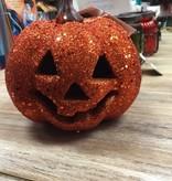 Decor Carved Glitter Pumpkin