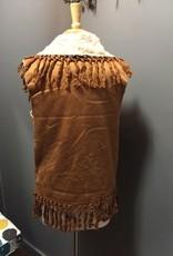 Vest Cognac Suede Vest w/ Fringe