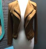 Jacket Shiney Brown Double Zip Jacket
