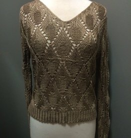 Top Knit Holey Sweater