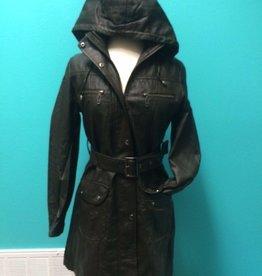 Jacket Hooded Leather Jacket