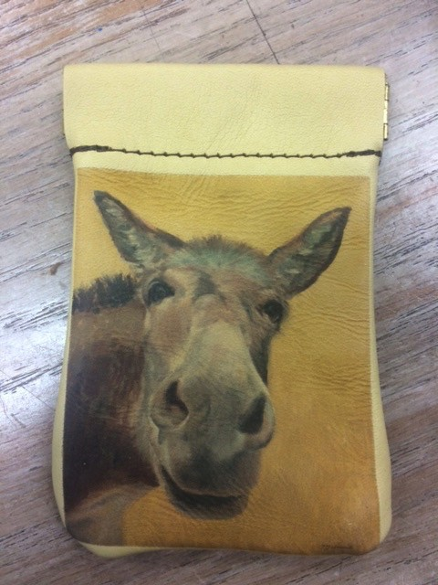 Accessory Coin Purse Squeeze Top- Donkey