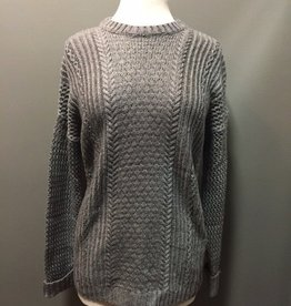 Sweater Gray Open Knit Sweater