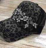 Hat Floral Bling Trucker Hat