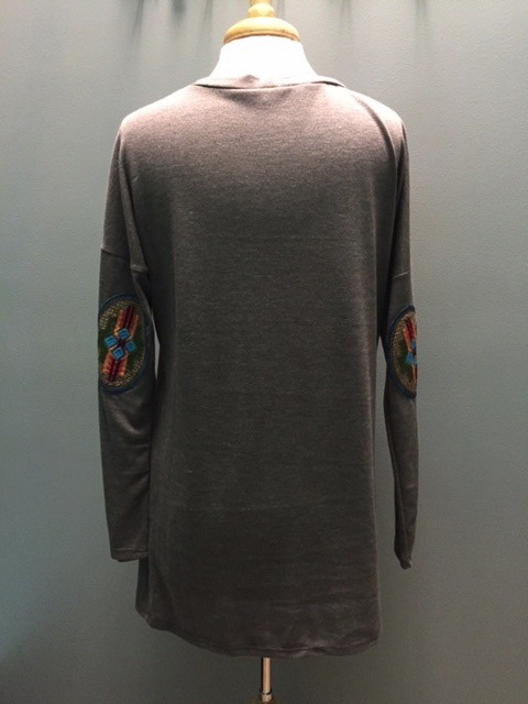 Long Sleeve Solid LS w/ Embroid Patch