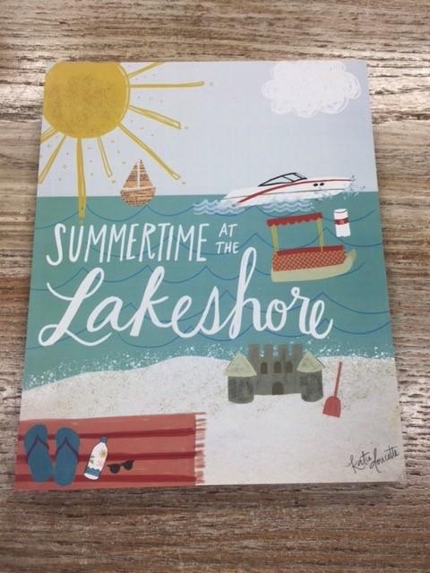 Decor Summertime Lakeshore Sign 8x10