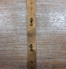 Jewelry Metallic Gold Thin Leather Cuff
