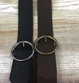Belt Black/Brown Elastic Belt