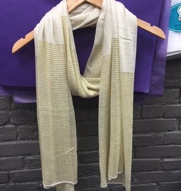 Scarf Gold/Gray Sparkly Scarf