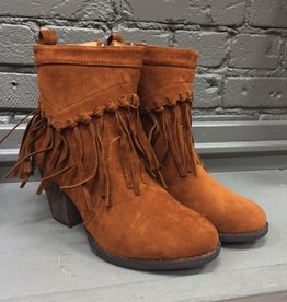 Boot Brown Suede Fringe Booties