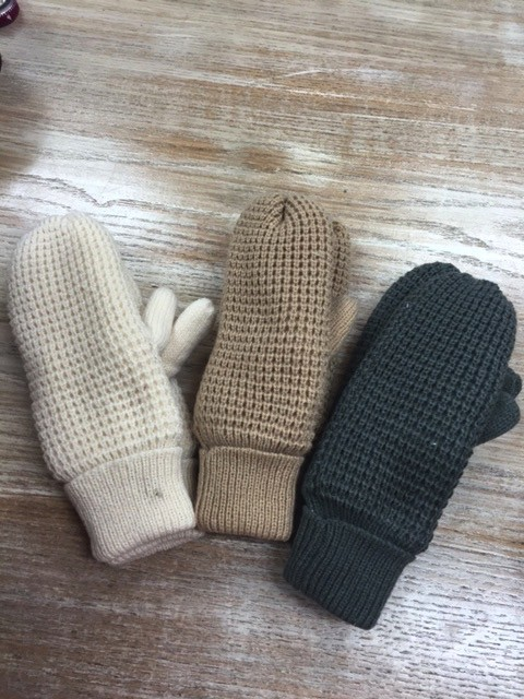Gloves Knit Fleece Lined Mittens