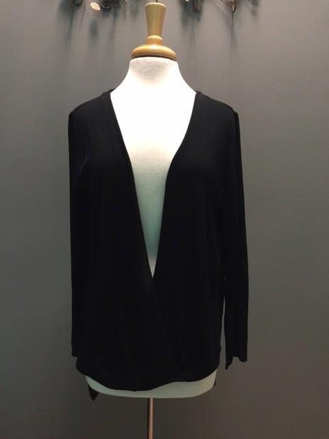 Long Sleeve Black LS Cross Layer Top