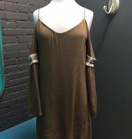 Dress Cold Shoulder Dress w/ Arm Bands