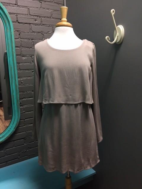 Dress LS Bodice Overlay Dress