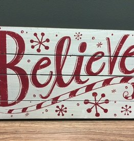 Decor Believe Wall Art 22.5x13.5