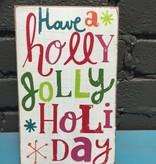 Decor Holly Jolly Wall Art 5x8.5