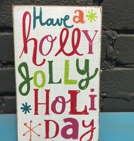 Decor Holly Jolly Wall Art 5x8.5