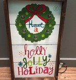 Decor Lit Have A Holly Jolly Wall Art 13x22