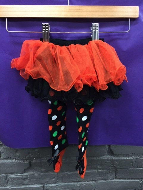 Kid's Halloween Polka Dot Baby Tutu Tights