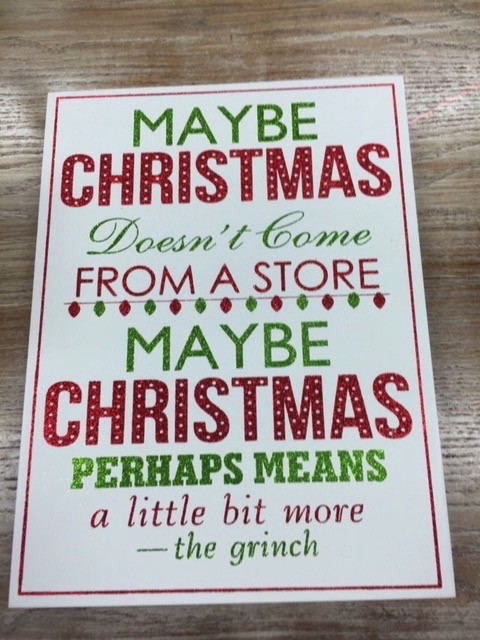 Decor Maybe Christmas Wall Sign