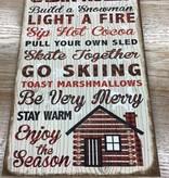 Decor Cabin Rules Canvas Sign