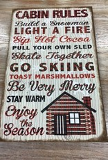 Decor Cabin Rules Canvas Sign
