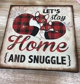 Decor Stay Home Canvas Sign