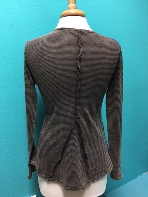 Long Sleeve Brown LS Lace Patch