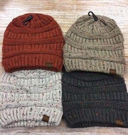 Beanie Mixed Yarn Knit Winter Beanie