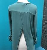 Long Sleeve Slate Roll Up Sleeve w/ Cutout