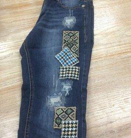 Jean Grace in LA Boyfriend Patch Jeans