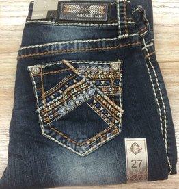 Jean Grace in LA Bootcut Jeans Weave Stitch