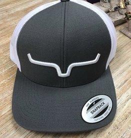 Hat Logo Mesh Gray Trucker Cap