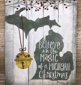 Decor Magic Michigan Sign 8x10